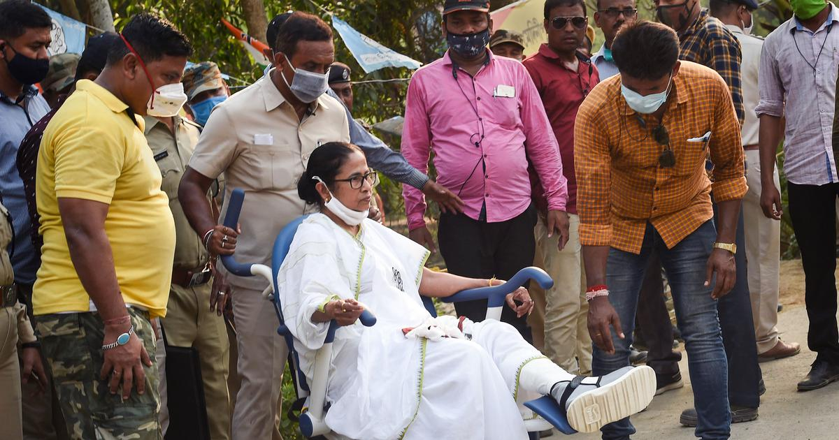 Bengal Polls: সওয়া ১টায় ঘর থেকে বেরোলেন মমতা